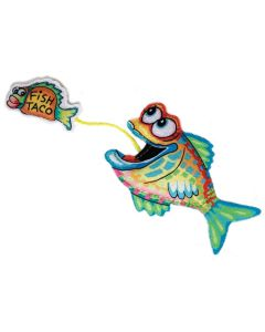 Fast Food Cat Toy Fish and Taco with Organic Catnip
