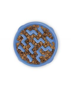 Outward Hound Fun Feeder Slo Bowl Blue [Medium/Mini]