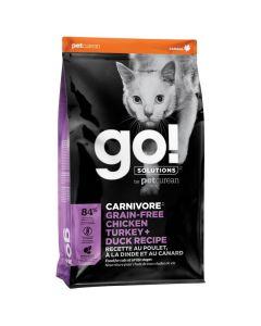 Go! Solutions Carnivore Grain-Free Chicken Turkey + Duck Cat Food