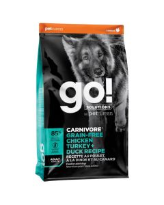 Go! Solutions Carnivore Grain-Free Chicken Turkey + Duck Adult Dog Food