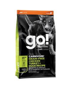 Go! Solutions Carnivore Grain-Free Chicken Turkey + Duck Puppy Food