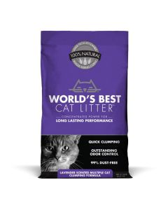 World's Best Lavender Scented Multiple Cat Clumping Cat Litter