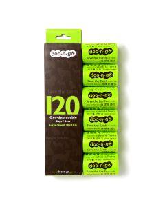 Doo-n-go Large Poop Bags (120 Bags)