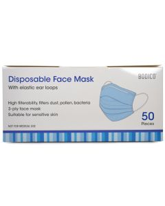 Bodico Disposable Face Mask [50 Pack]