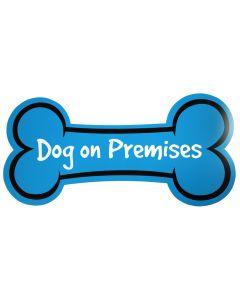 Dog on Premises Blue Sign