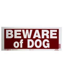 "Beware of Dog Sign (2x8"")"