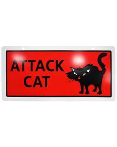 """Attack Cat Sign (5x10"""")"""