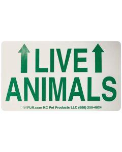 KC Pet Live Animal Declarations Label with Arrows