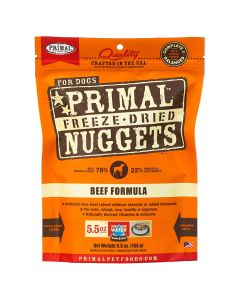 Primal Nuggets Freeze Dried Beef Dog Food