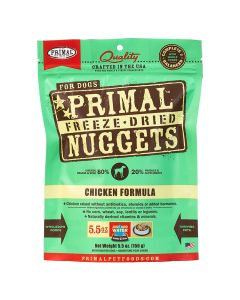 Primal Nuggets Freeze Dried Chicken Dog Food