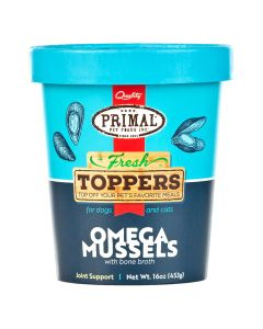 Primal Fresh Toppers Omega Mussels [454g]