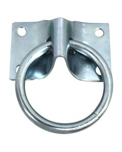 KVS Cross Tie Hitching Ring with Plate