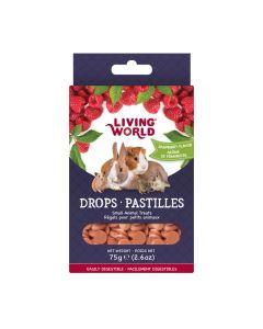 Living World Drops Raspberry Flavour [75g]
