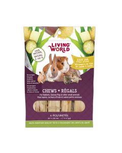 Living World Chews Sugar Cane Stalk Sticks [4 pieces]