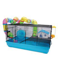 "Living World Playhouse Dwarf Hamster Cage [22.8 x 12.5 x 12.4""]"