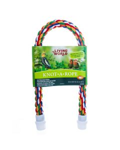 Living World Knot-A-Rope Multi-Coloured Cotton Perch