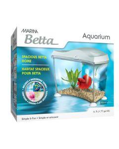 Marina Spacious Betta Home White (1.77 Gallon)