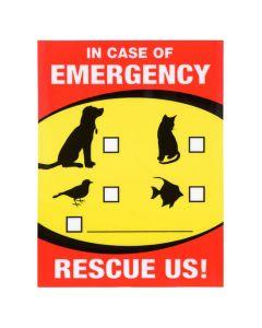 Pet Emergency Decal