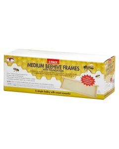 Little Giant Medium Beehive Frames with Foundation [5 Pack]