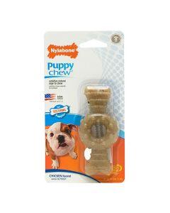 Nylabone Puppy Chew Ring Bone Chicken Flavoured