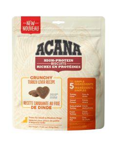 Acana High Protein Biscuits Crunchy Turkey Liver Dog Treats [255g]