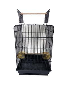YML Open Flat Top Bird Cage Black