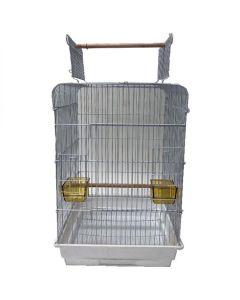 YML Open Flat Top Bird Cage White