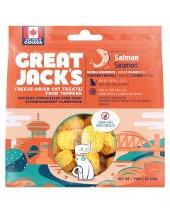 Great Jack's Freeze-Dried Salmon Cat Treats [28g]