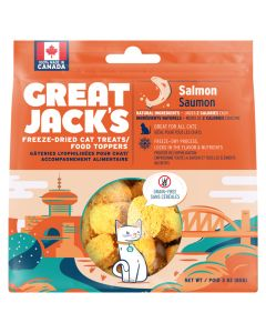 Great Jack's Freeze-Dried Salmon Cat Treats [85g]
