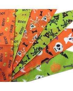 Cozymo Bandanas Assorted Halloween Patterns [72 Pack]