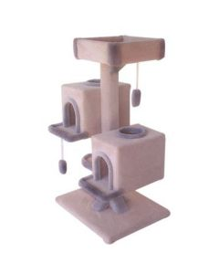 TomCat Duplex Condo with Bed Scratching Post  (Assorted Colours) TC151