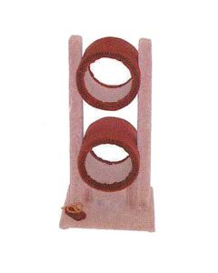 TomCat Double Tunnel Scratching Post (Assorted Colours) TC79