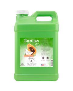 Tropiclean Papaya & Coconut Luxury 2-in-1 Pet Shampoo & Conditioner [2.5 Gallon]