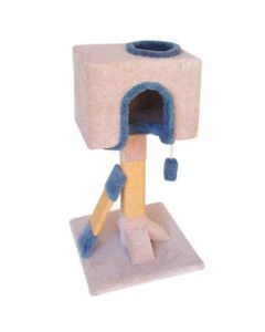 TomCat Box Condo Scratching Post with Sisal [3'] (Assorted Colours) TCS125