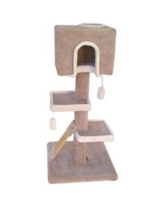 TomCat Box Condo Scratching Post with Sisal [4'] (Assorted Colours) TCS126
