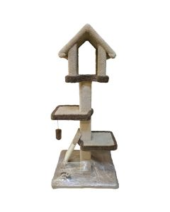 TomCat Chalet Scratching Post with Sisal [4'] (Assorted Colours) TCS161