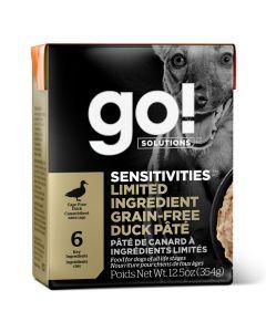 Go! Solutions Sensitivities Limited Ingredient Grain-Free Duck Pâté Dog Food [354g]