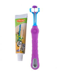 Triple Pet EZ Dog Toothbrush & Toothpaste Kit for Small Breeds