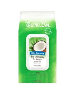 Tropiclean Mild Coconut Ear Cleaning Pet Wipes [50 Wipes]