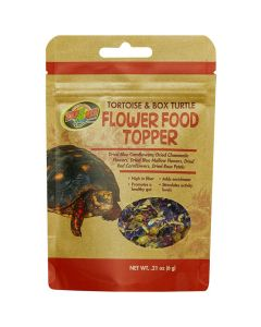 Zoo Med Tortoise & Box Turtle Flower Food Topper [40g]
