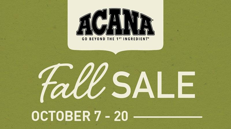 Acana Fall Sale